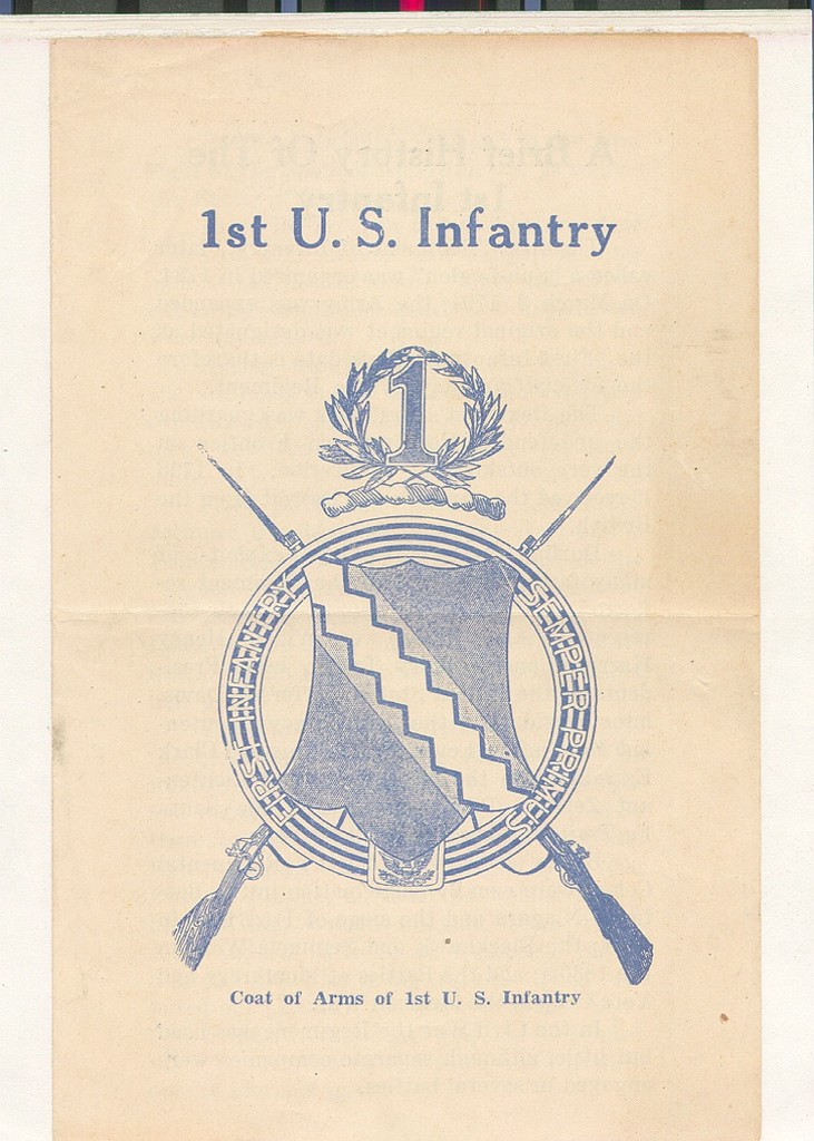 22_Oahu_First_Infantry_History_Flyer_front