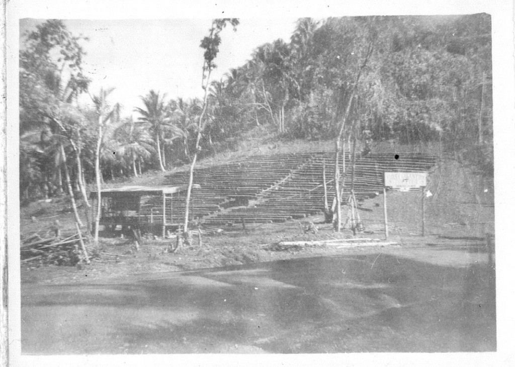 32_Milne_Bay_First_Infantry_Theatre_made_from_coconut_logs