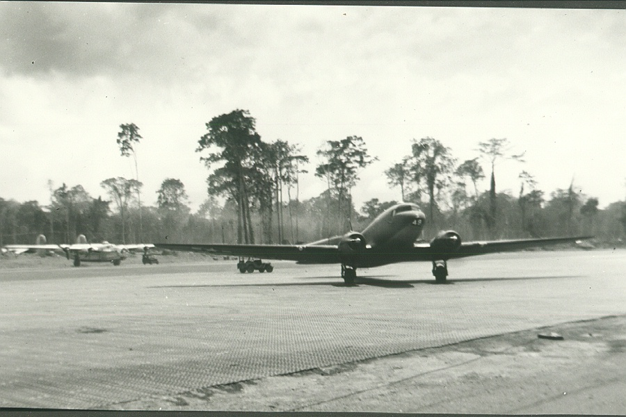 68_Sansapor_C_47_on_the_Mar_airstrip