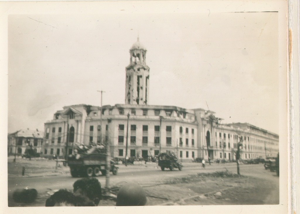 92_Luzon_The_damaged_capitol_building_in_Manilla