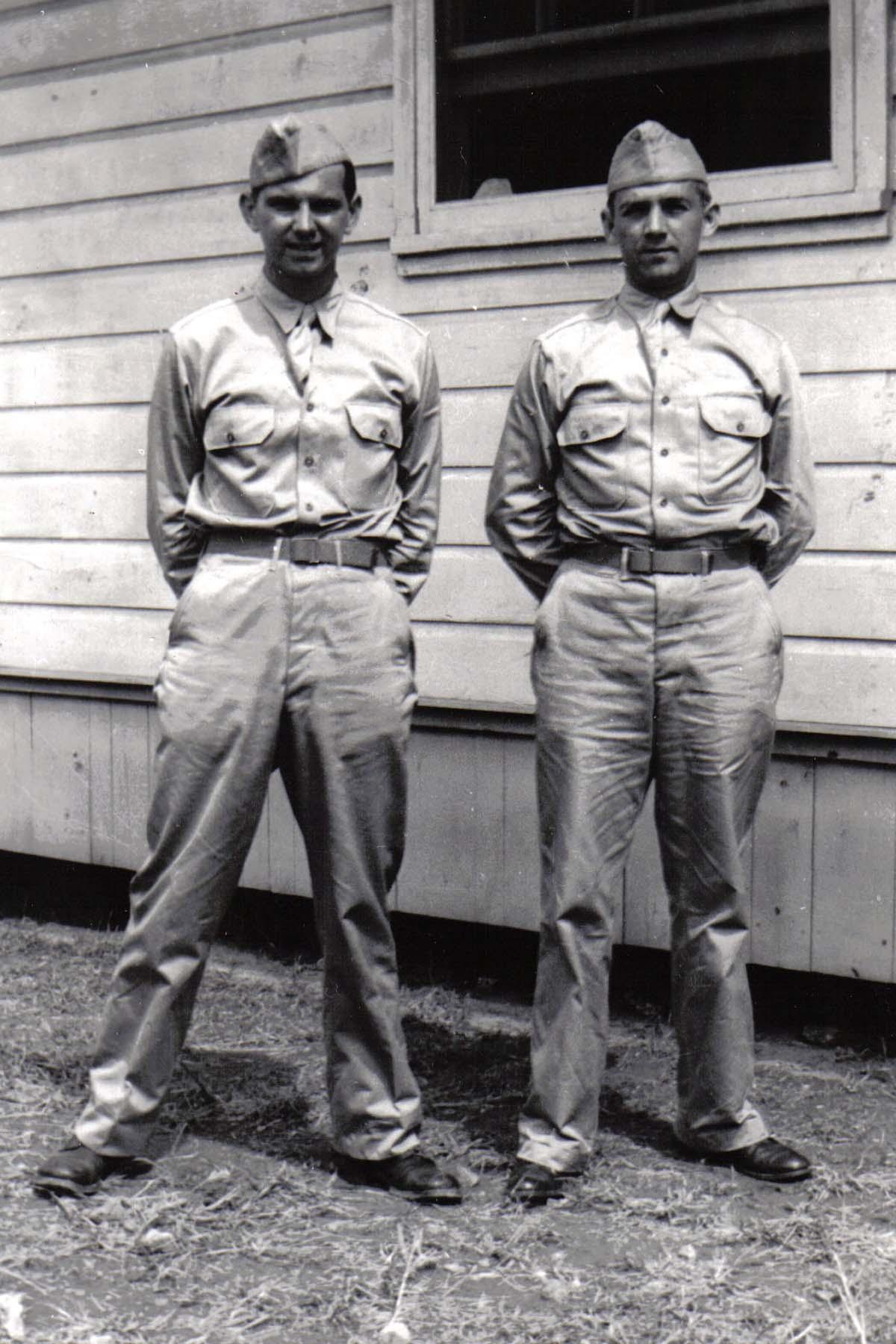 A01 Ft_ Leonard Wood_ MO - Lou Murrin and Tom Fallen - August 1942