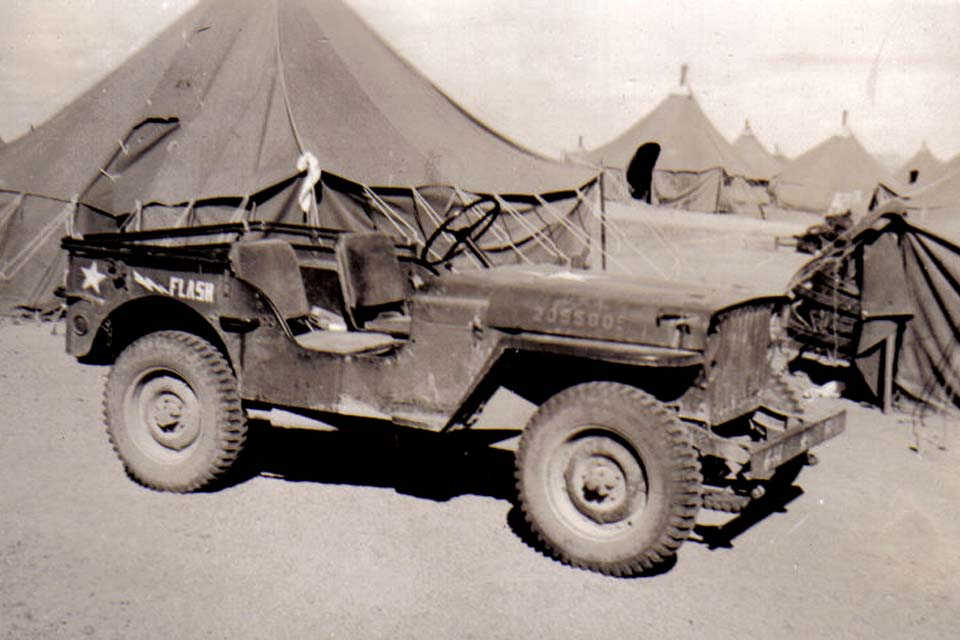 B26 Camp Young_ CA - F Company jeep
