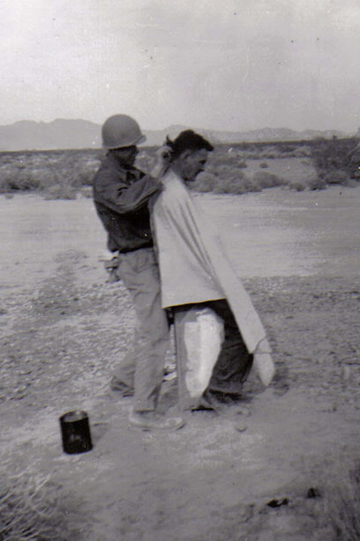 B36 Camp Young_ CA - Haircut - desert style