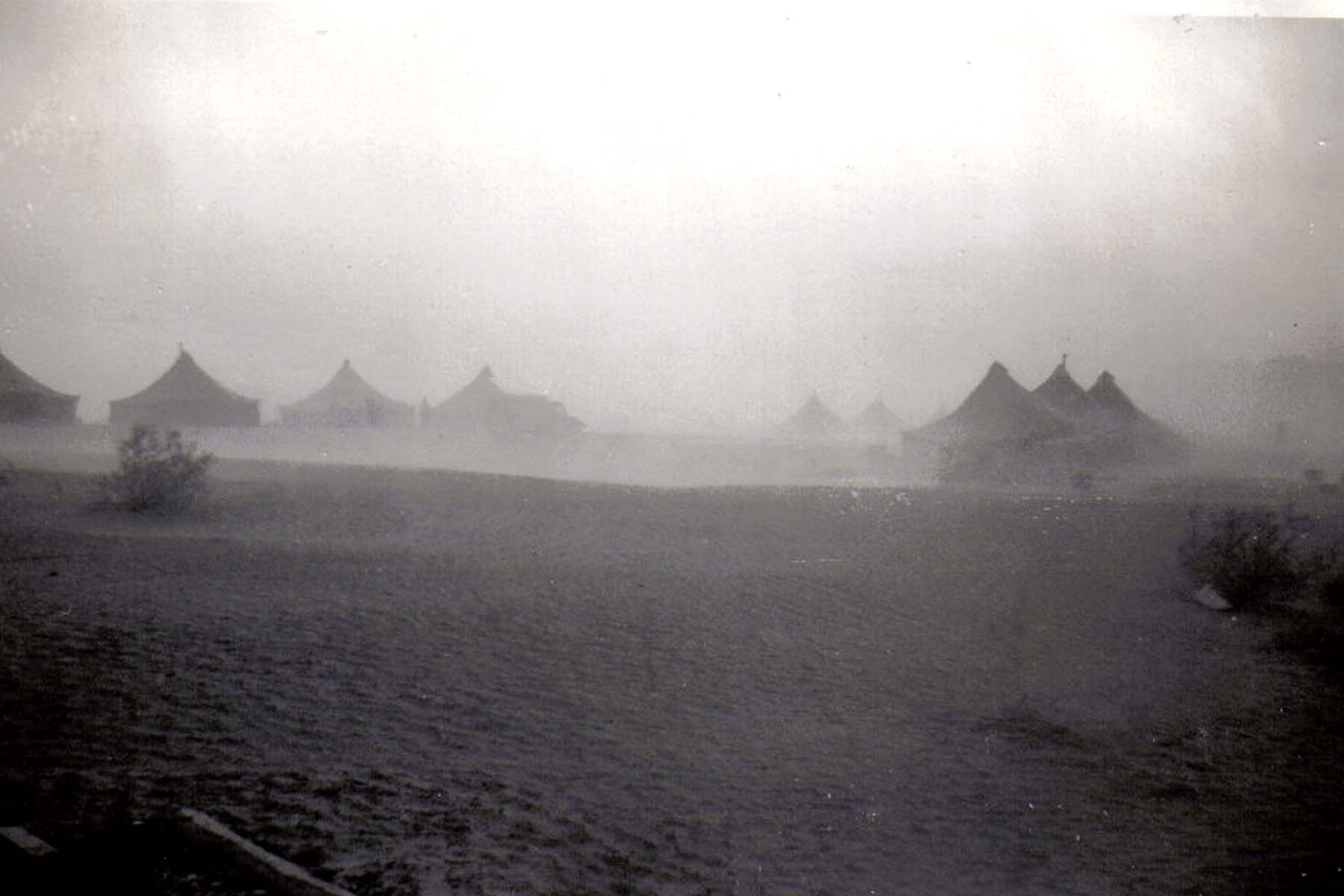 B40 Camp Young_ CA - Full blown dust storm