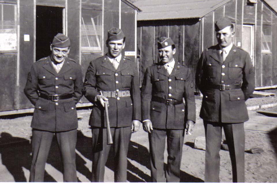 C03 Camp San Luis Obispo - L to R Sgts_ Flaherty_ Riley_ Lentz_ Nelson