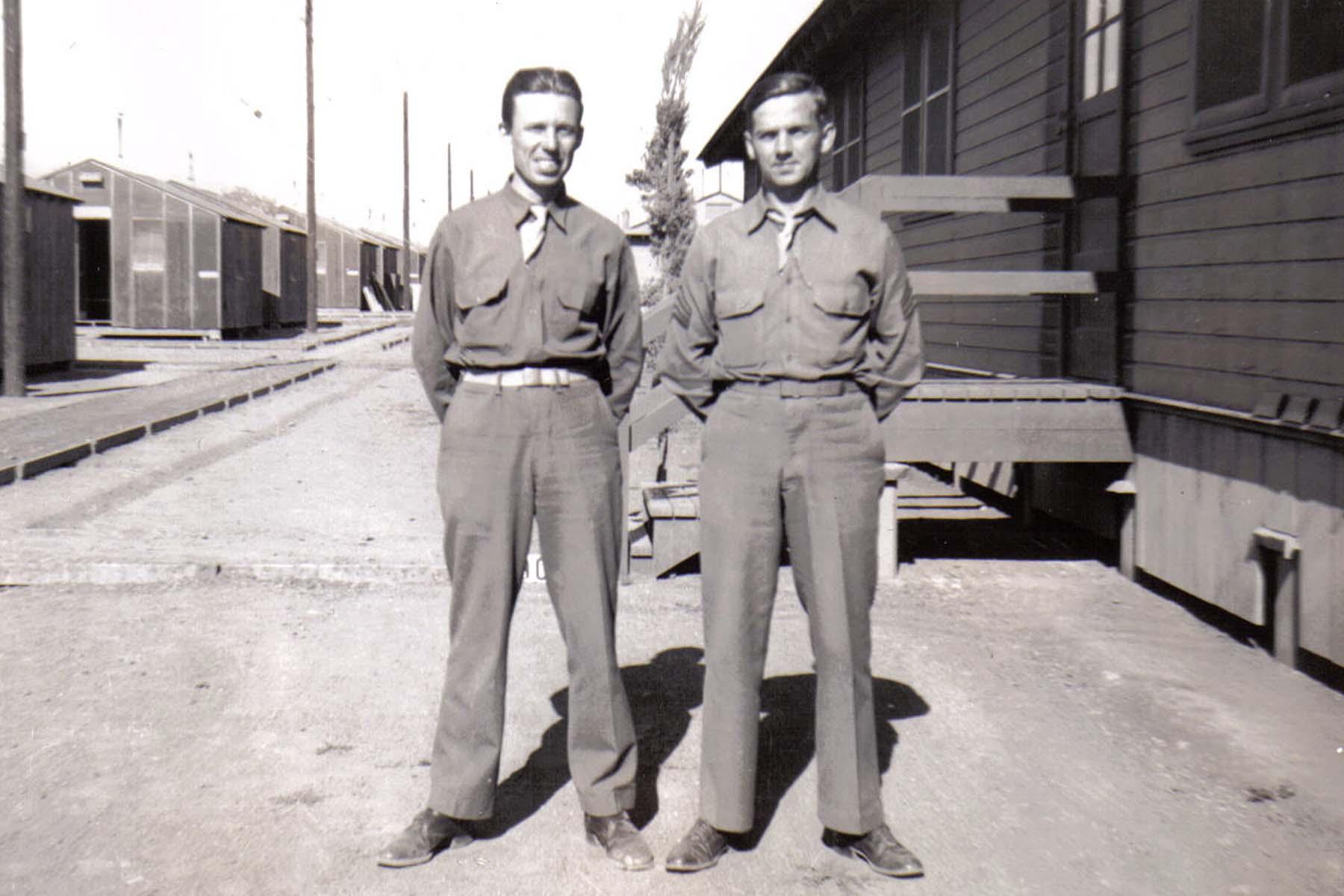 C04 Camp San Luis Obispo - Earl Miller _L_ and Tom Fallen