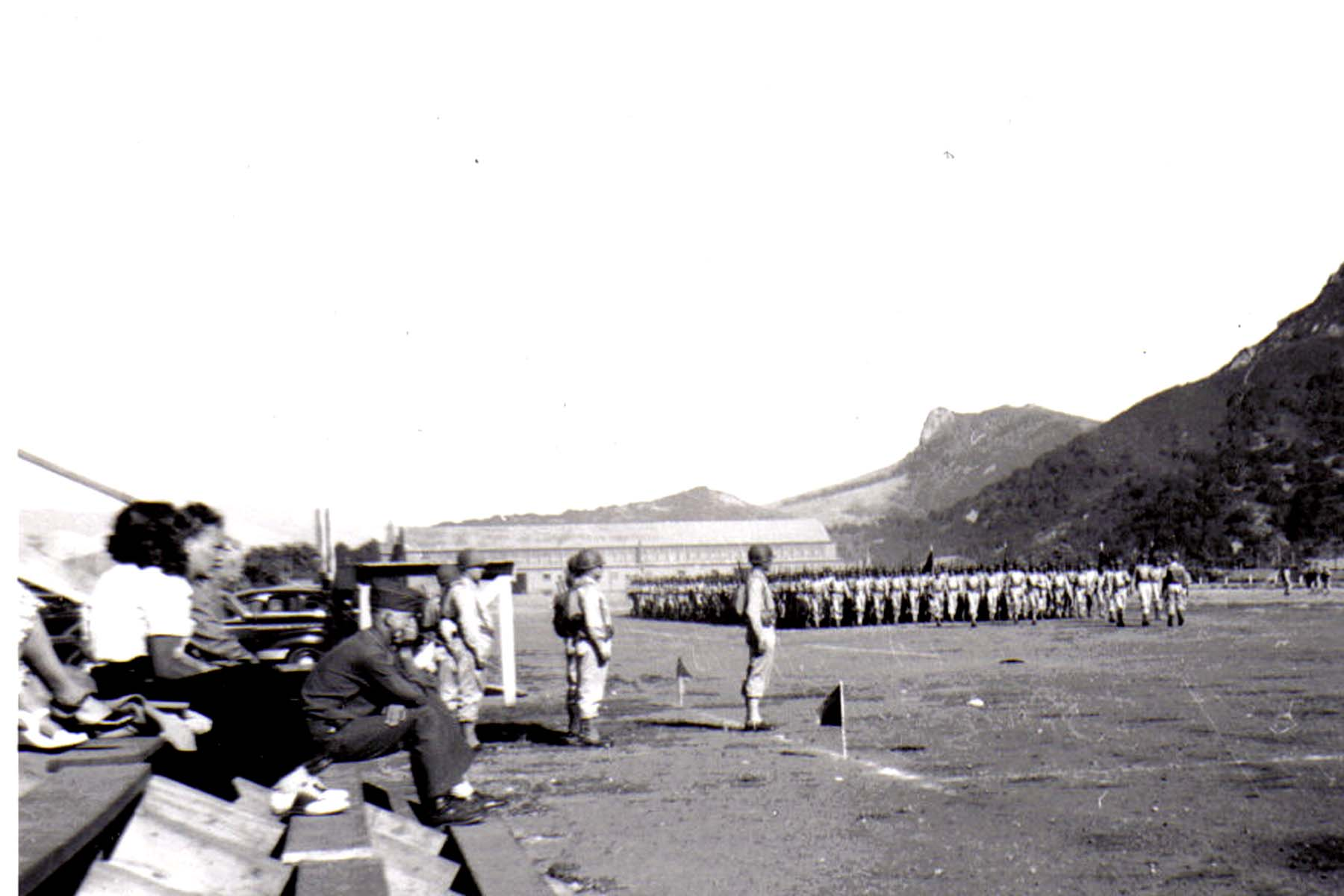 C27 Camp San Luis Obispo - August 2_ 1943 parade - The First Battalion _passes in review_