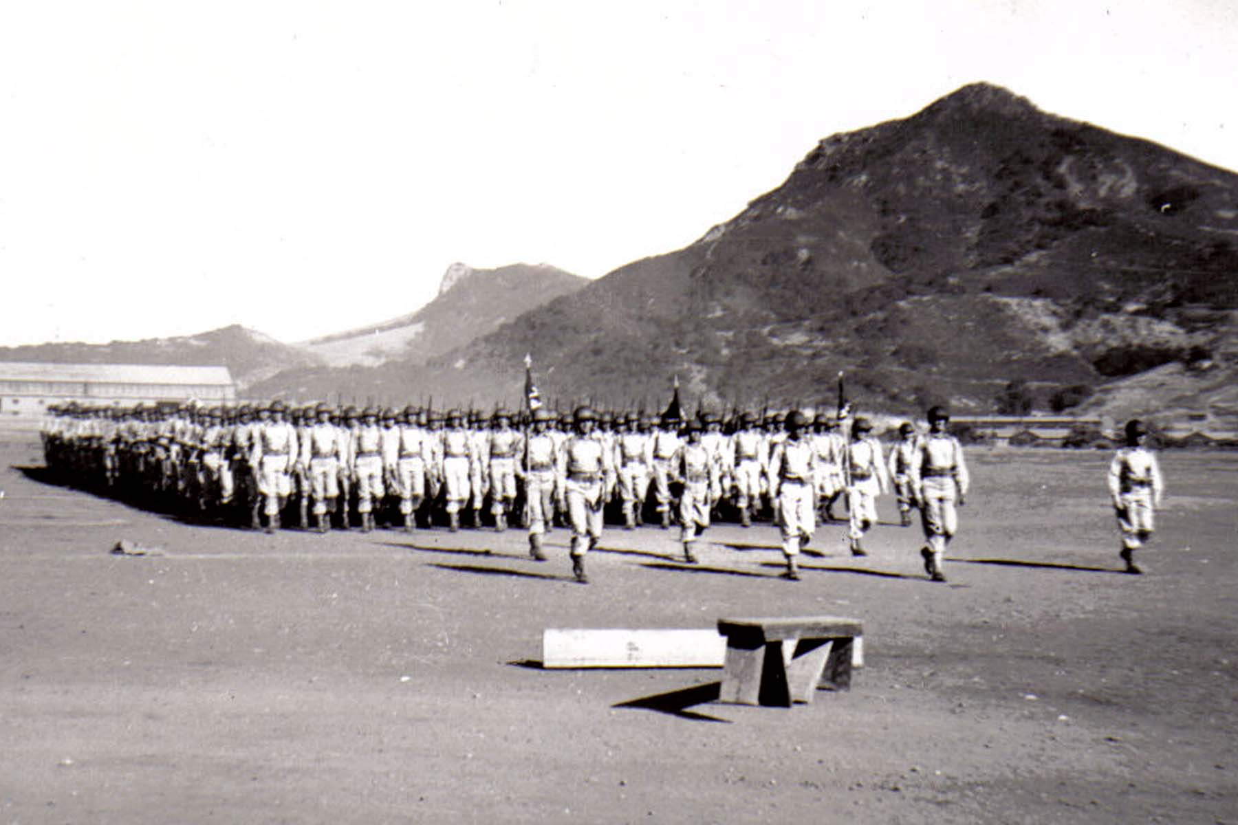 C29 Camp San Luis Obispo - August 2_ 1943 parade - The Second Battalion moves down the field