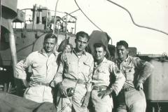 113_Enroute_to_Korea_October_1945_aboard_ship_Tom_Fallen_on_left