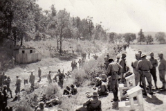 A24 Ft_ Leonard Wood_ MO - Firing line at rifle range - targets to the right - scorers benches in front