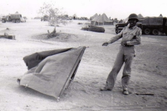B08 Camp Young_ CA - Earl Miller pitches a tent in the wind
