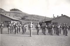 C11 Camp San Luis Obispo - 1st Platoon_ F Company at _port arms_