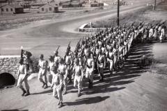 C23 Camp San Luis Obispo - August 2_ 1943 parade - F Company enters the parade ground