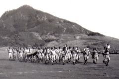 C26 Camp San Luis Obispo - August 2_ 1943 parade - The band _passes in review_