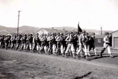 C30 Camp San Luis Obispo - August 2_ 1943 parade - F Company heads home