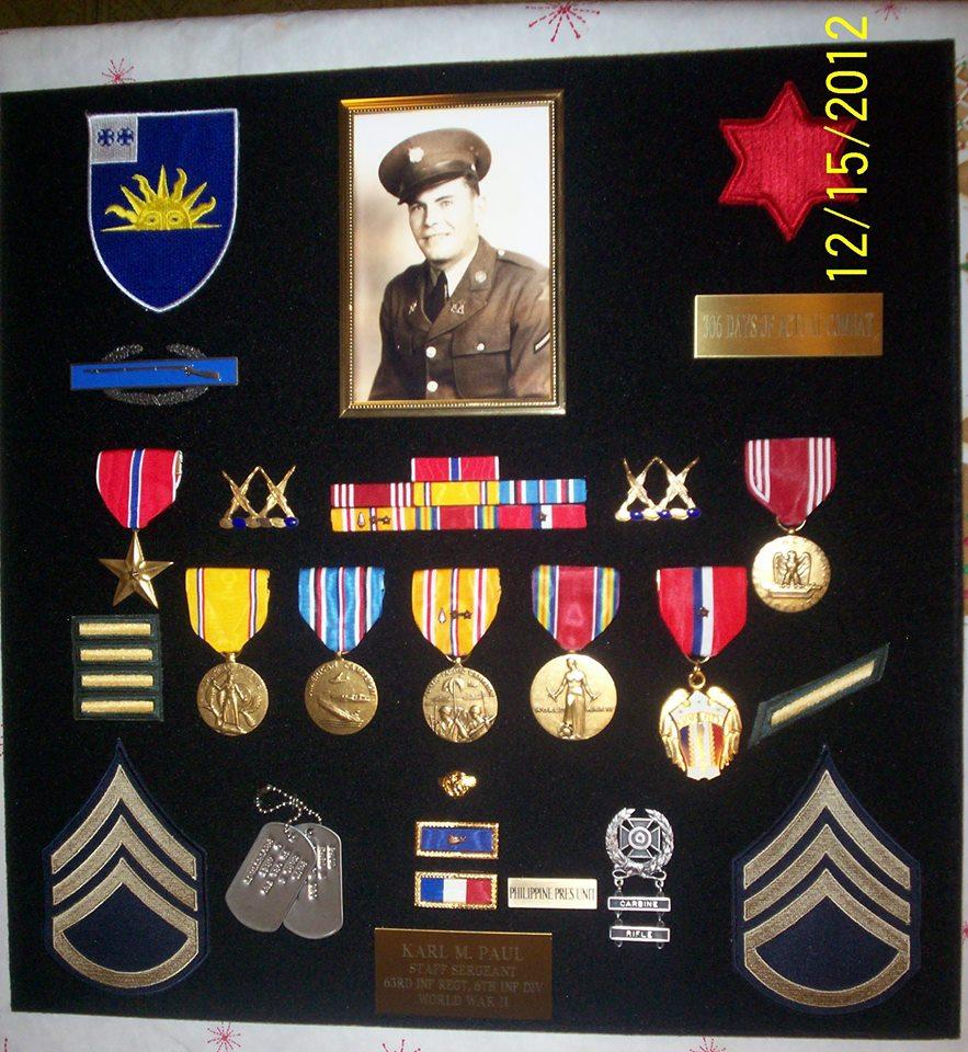 Medals of Sgt. Karl M. Paul