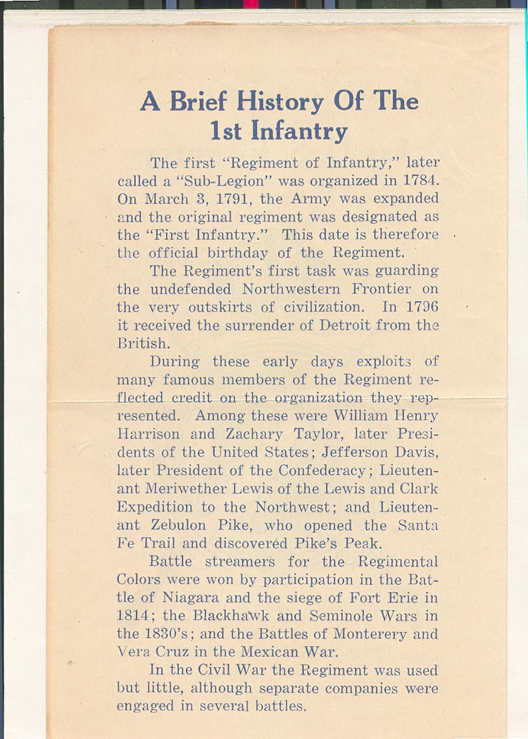 23_Oahu_First_Infantry_History_Flyer_inside_left