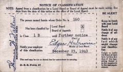 D02_Tom_Fallen_Selective_Service_Notice_of_Classification